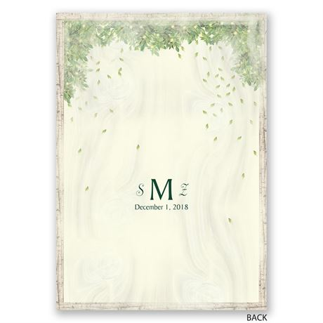 Monogram Wreath - Invitation