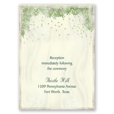 Monogram Wreath Reception Card