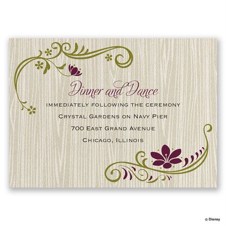 Disney Natural Beauty Reception Card Anna