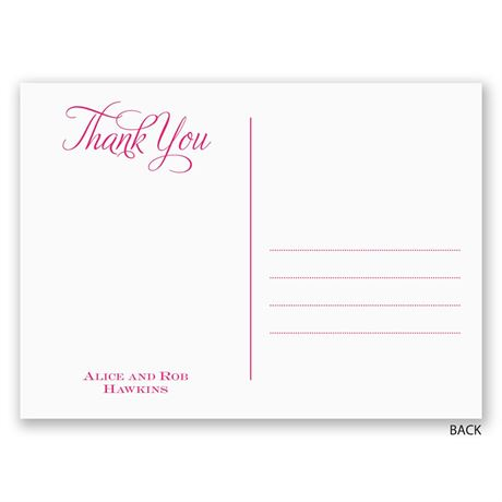 Pure and Simple - Thank You Post Card