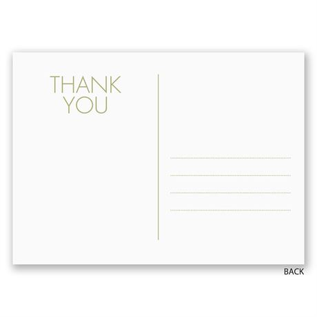 Special Moments - Thank You Postcard