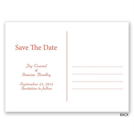 One Love - Save the Date Postcard