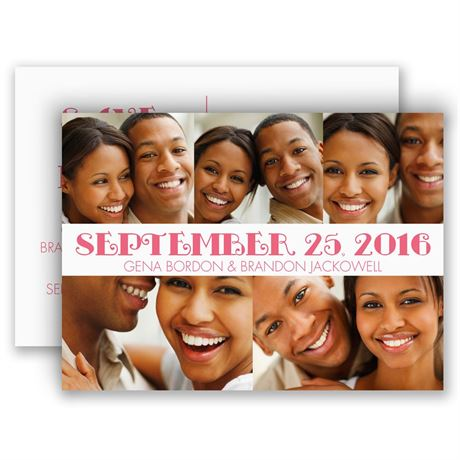 All Smiles Save the Date Postcard