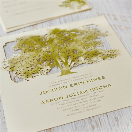 Growing in Love - Ecru - Laser Cut Invitation