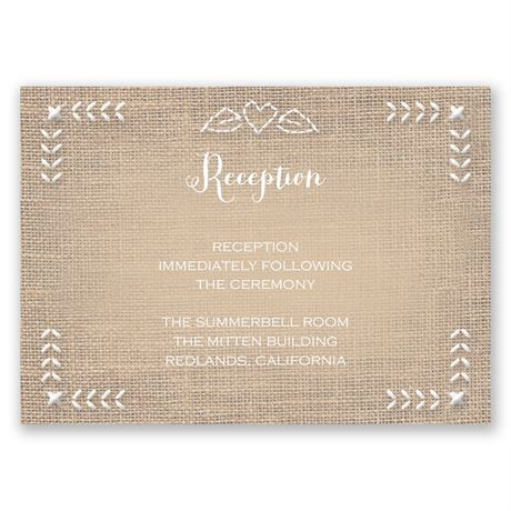 In Stitches Reception Card