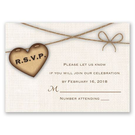 Rustic Hearts Response Card