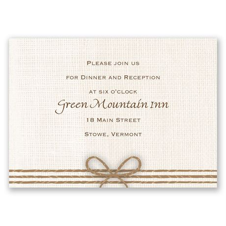 Rustic Hearts Reception Card