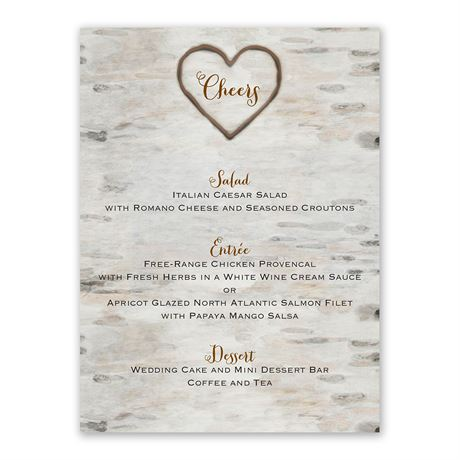 Love for Infinity Menu Card