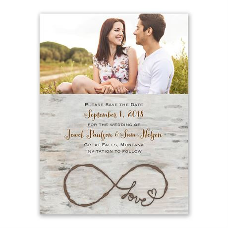 Love for Infinity Save the Date Card