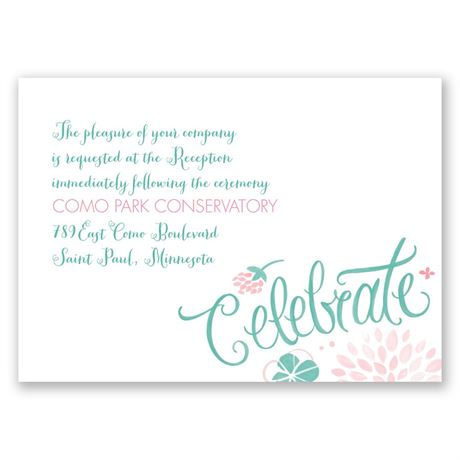 Floral Fun Reception Card