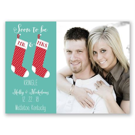 New Stockings Holiday Card Save the Date