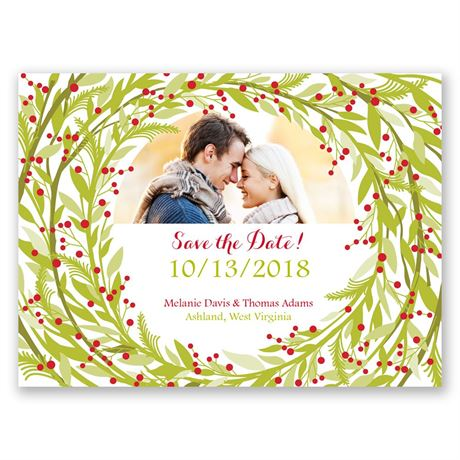 Embrace the Season Holiday Card Save the Date