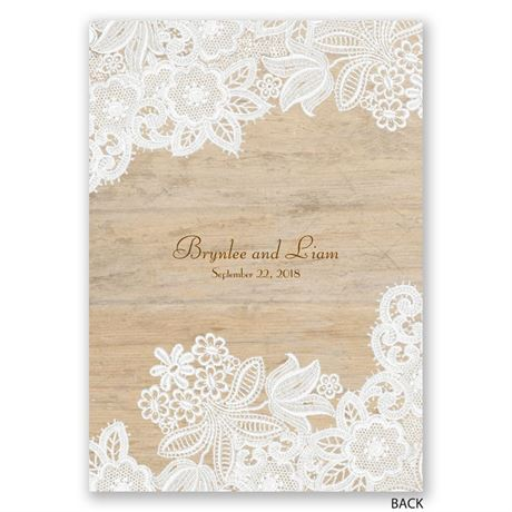 Wood and Lace - Invitation
