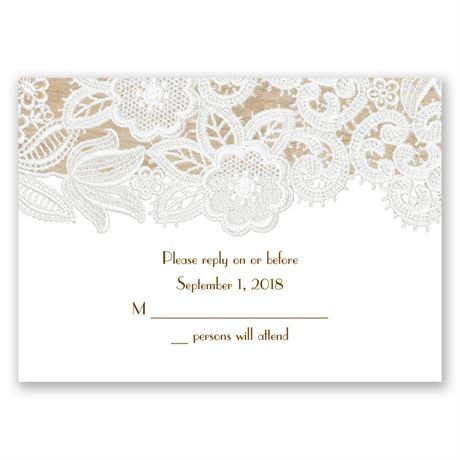 Wood and Lace Response Card