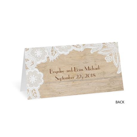 Wood and Lace - Place Card