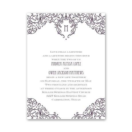 Henna Monogram - Petite Invitation
