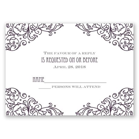 Henna Monogram Response Card
