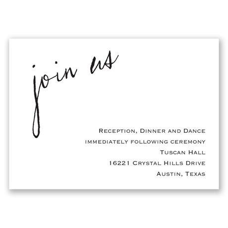 Just Write Reception Card