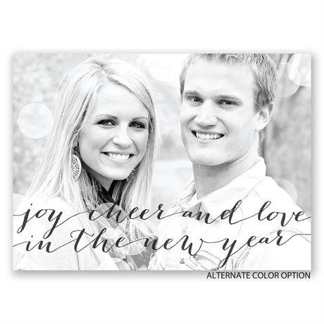 New Year Cheer - Holiday Postcard Save the Date