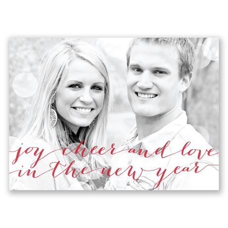 New Year Cheer Holiday Postcard Save the Date