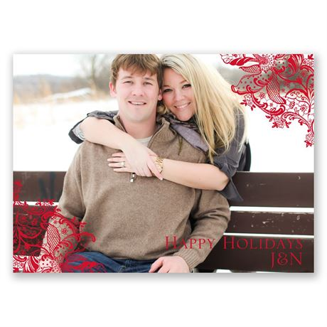 Pretty Poinsettias - Holiday Postcard Save the Date
