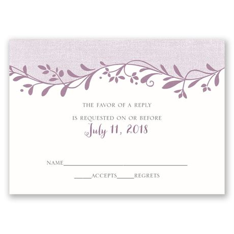 Flowers and Linen Response Card