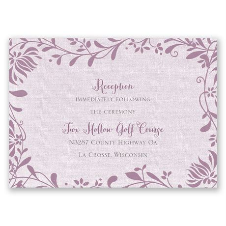 Flowers and Linen Reception Card