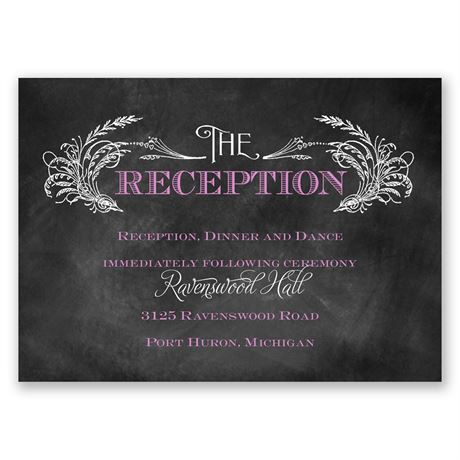 Wheat Flourish Reception Card