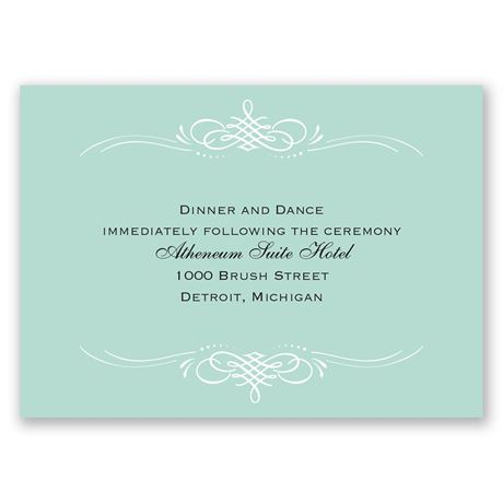 Sweet Sophistication Reception Card