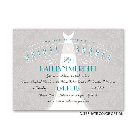 Ultra Classy - Petite Bridal Shower Invitation