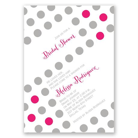 Polka Dot Party Bridal Shower Invitation