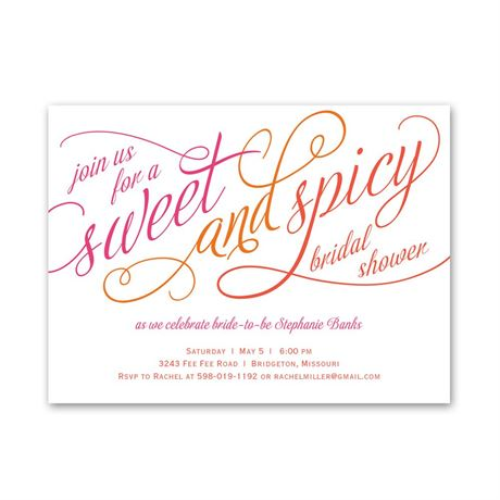 Sweet and Spicy Petite Bridal Shower Invitation