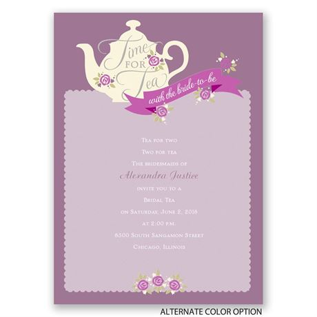 Time for Tea - Bridal Shower Invitation