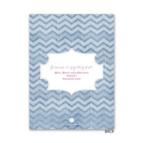 Denim Chevron - Petite Bridal Shower Invitation
