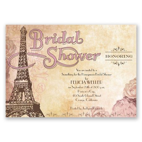 Eiffel Tower - Bridal Shower Invitation