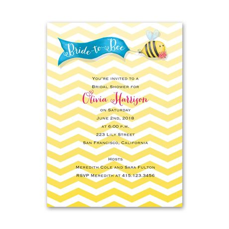 Bride to Bee - Petite Bridal Shower Invitation