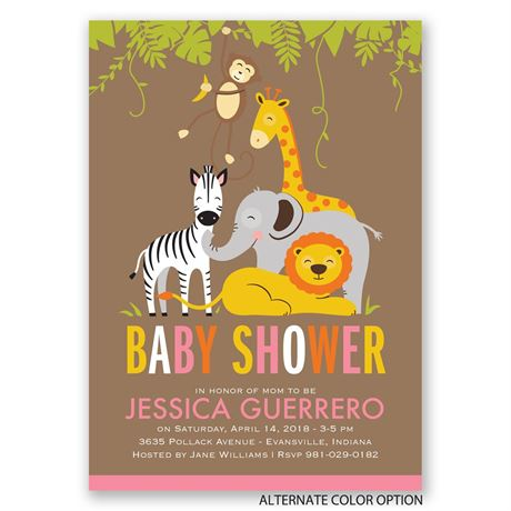 Jungle Fun - Baby Shower Invitation