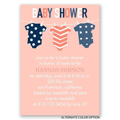 Baby Clothes - Mini Baby Shower Invitation