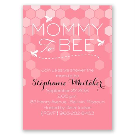 Mommy to Bee Mini Baby Shower Invitation