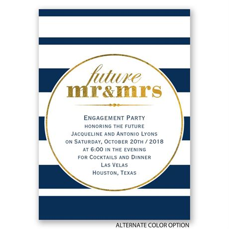 Future Plans - Mini Engagement Party Invitation