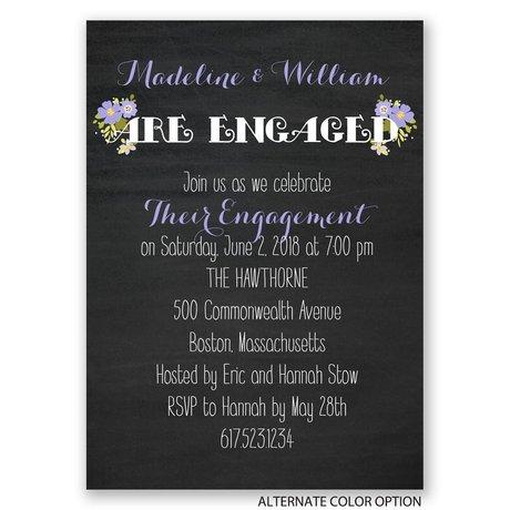 Budding News - Mini Engagement Party Invitation