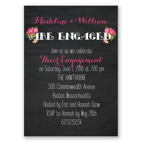 Budding News Mini Engagement Party Invitation