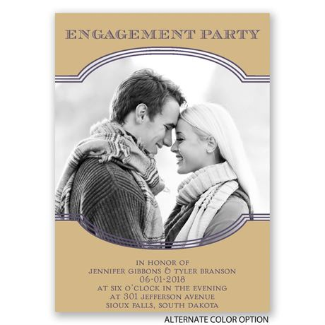 Perfection - Mini Engagement Party Invitation