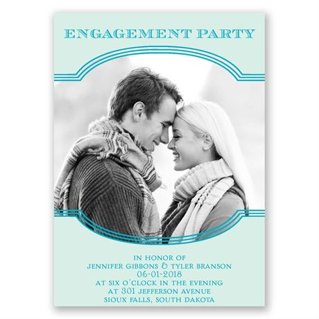 Perfection Mini Engagement Party Invitation