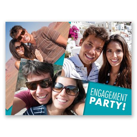 Big Smiles - Petite Engagement Party Invitation