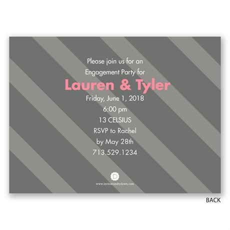 Days Together - Petite Engagement Party Invitation