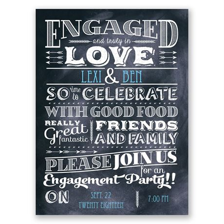 Truly In Love Petite Engagement Party Invitation