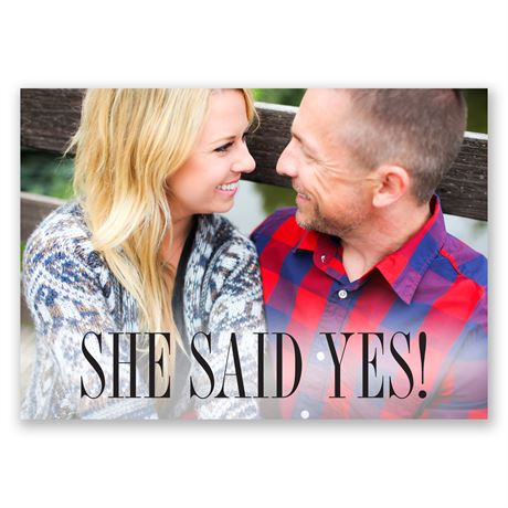 She Said Yes! - Engagement Party Invitation