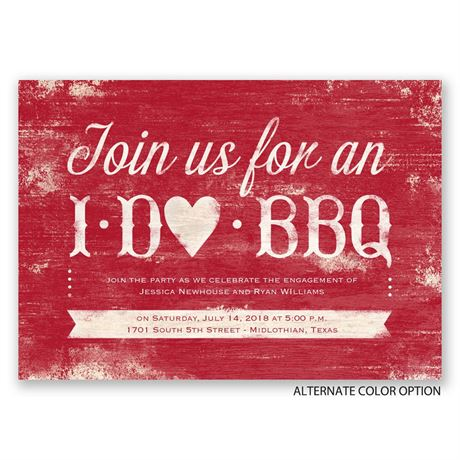 I Do BBQ - Engagement Party Invitation