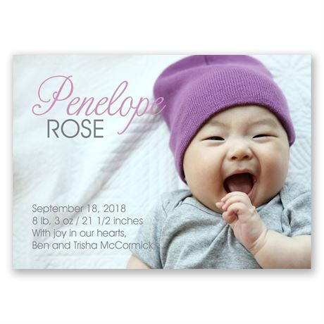 Sweet Introduction Mini Birth Announcement